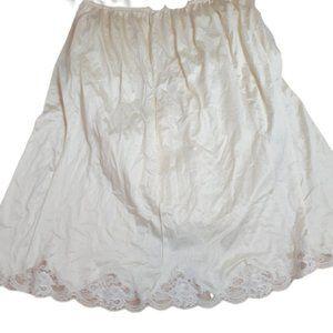 Vintage USA made nylon sleep skirt/dress liner 3x